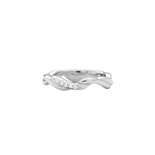納期1ヶ月~1ヶ月半【DUB Collection│ダブコレクション】Wave Ring ウェーブリング DUBj-370-1【ピンキーリング】