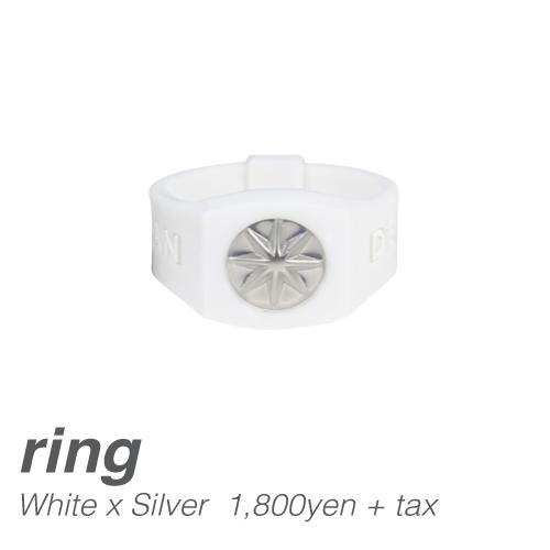 【BANDEL|バンデル】 BANDEL PRATE RING バンデルプレートリング White×Silver