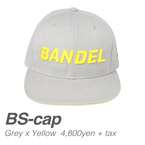 【BANDEL|バンデル】 BANDEL SPORTS CAP バンデルスポーツキャップ Gray×Yellow