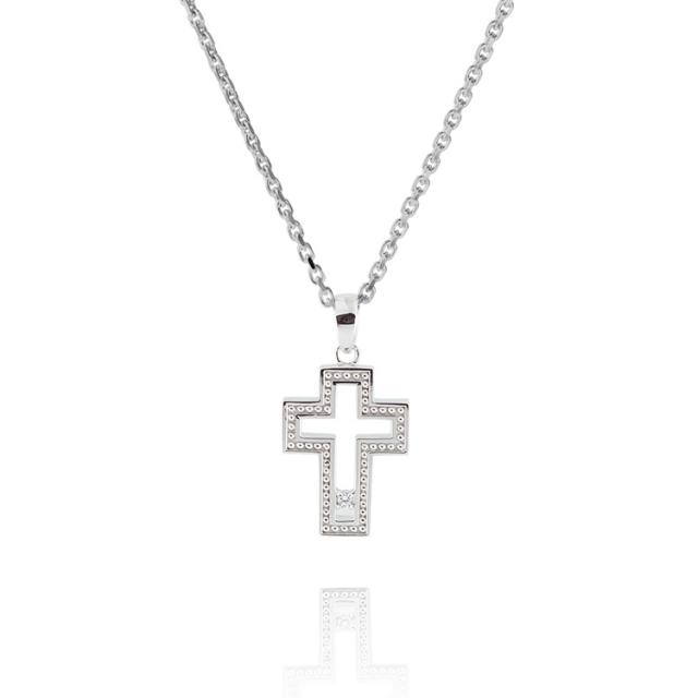 【DUB Collection│ダブコレクション】 KAREN model Open Cross Necklace オープンクロスネックレス DUB-C043-1【KARENコラボ】【男女兼用】