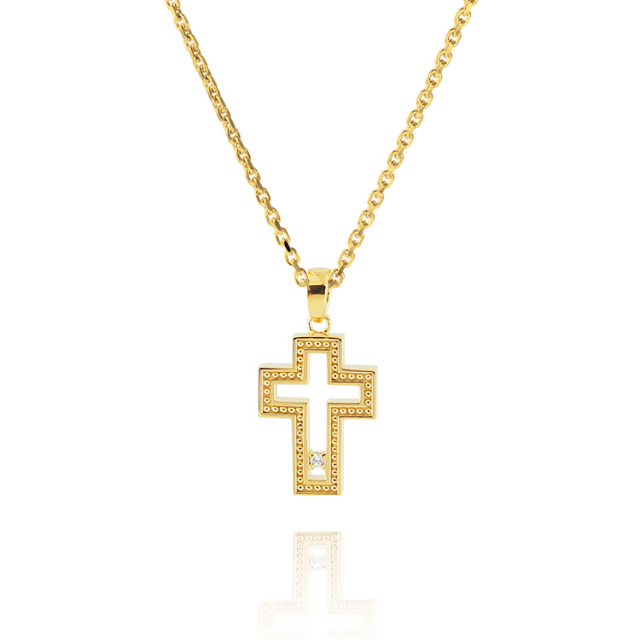 【DUB Collection│ダブコレクション】 KAREN model Open Cross Necklace オープンクロスネックレス DUB-C043-2【KARENコラボ】【男女兼用】