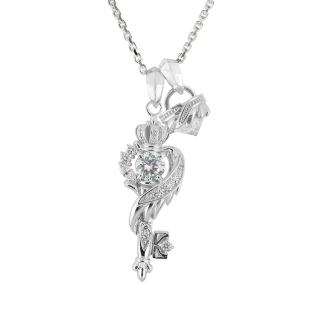 【要予約】【三次予約受付中】【DUB Collection│ダブコレクション】桜井莉菜 model Wing Key Stone Necklace ウィングキーストーンネックレス DUB-C051-1/DUB-C052-1(WH)【さくりなコラボ】