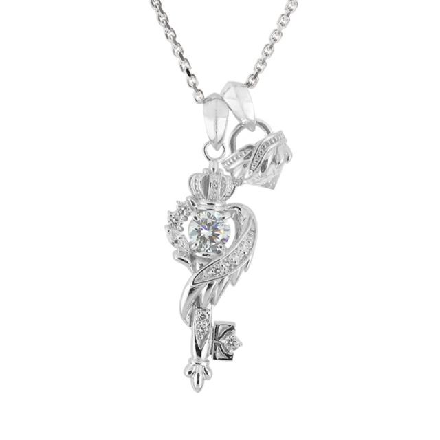 納期:1ヶ月~1ヶ月半【DUB Collection│ダブコレクション】桜井莉菜 model Wing Key Stone Necklace ウィングキーストーンネックレス DUB-C051-1/DUB-C052-1(WH)【さくりなコラボ】