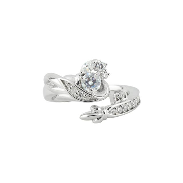 【納期約1ヶ月】【DUB Collection│ダブコレクション】桜井莉菜 model Wing Key Ring ウィングキーリング DUB-C058-1(WH)【さくりなコラボ】