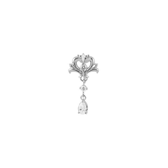 【DUB Collection】桜井莉菜 model Heart Tiara Pierce/Earring -Short- ハートティアラピアス/イヤリング-ショート- DUB-C067-1/DUB-C067-2 片耳用【さくりなコラボ】