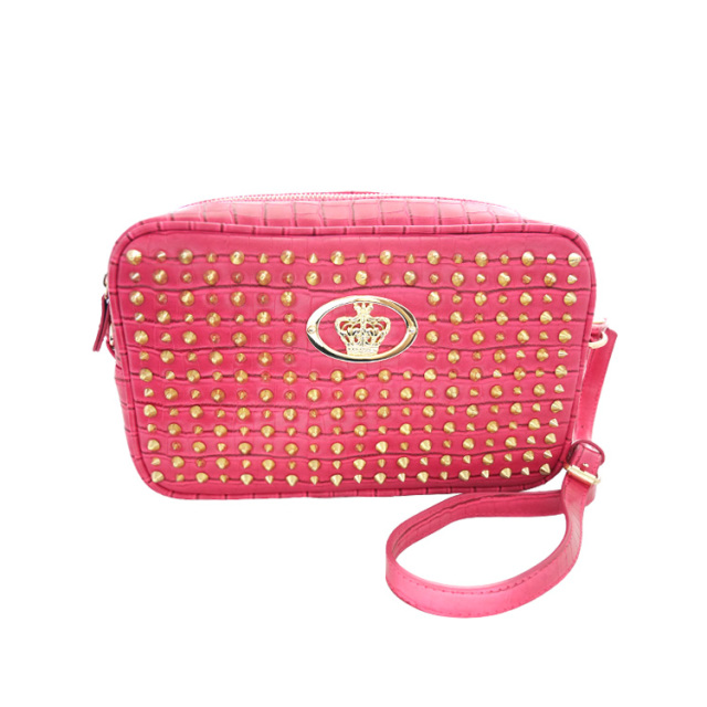 【DUB Collection】桜井莉菜model Studs Shoulder Bag -Pink- スタッズショルダーバッグ-ピンク-【C072-2】