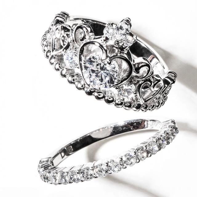 受注生産(オーダー)【DUB Collection│ダブコレクション】桜井莉菜 model Heart Tiara Set Ring ハートティアラセットリング 【DUB-C081-1】