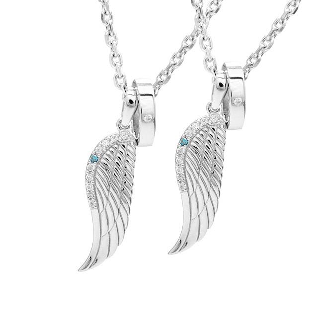 お届け:3-4日【close to me|クロス トゥ ミ―】天使の羽 Angel's ring ペアネックレス sn13-183-184【ペア】
