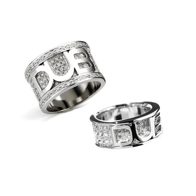 受注生産(オーダー)【DUB collection|ダブコレクション】shine base logo Ring シャインベースロゴリング DUBj-17-240-2pair【ペア】