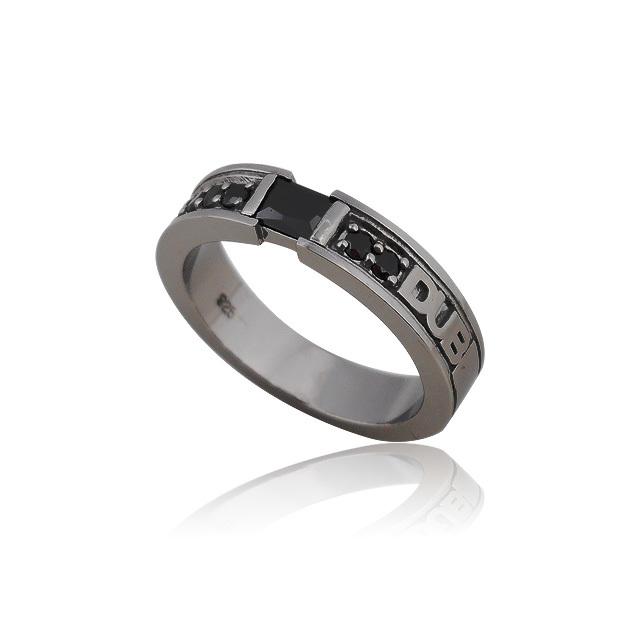 【DUB collection|ダブコレクション】Chic Bar ring(men's) DUBj-155-2(BK)【メンズ】