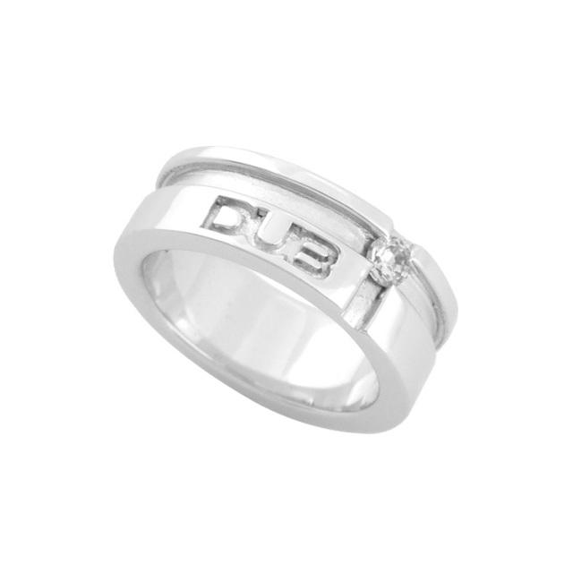 【DUB collection|ダブコレクション】mat line cross ring(men's) DUBj-158-2(WH)【メンズ】