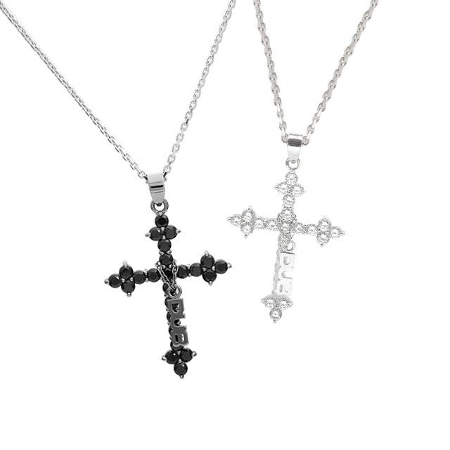 魅力的な色気を演出♪【DUB collection|ダブコレクション】Sacred Cross Pair Necklace セイクリッド クロス ペア ネックレス DUBj-200-pair【ペア】