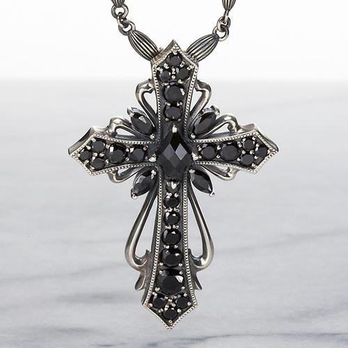 【DUB Luxury|ラグジュアリーダブ】Antique cross pendant(black) ペンダントトップ【OD-202(BK)】