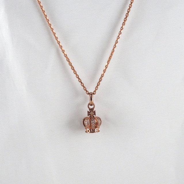 受注生産(オーダー)【DUB collection|ダブコレクション】Tiny Crown Necklace タイニークラウンネックレス DUBj-264-4【ユニセックス】