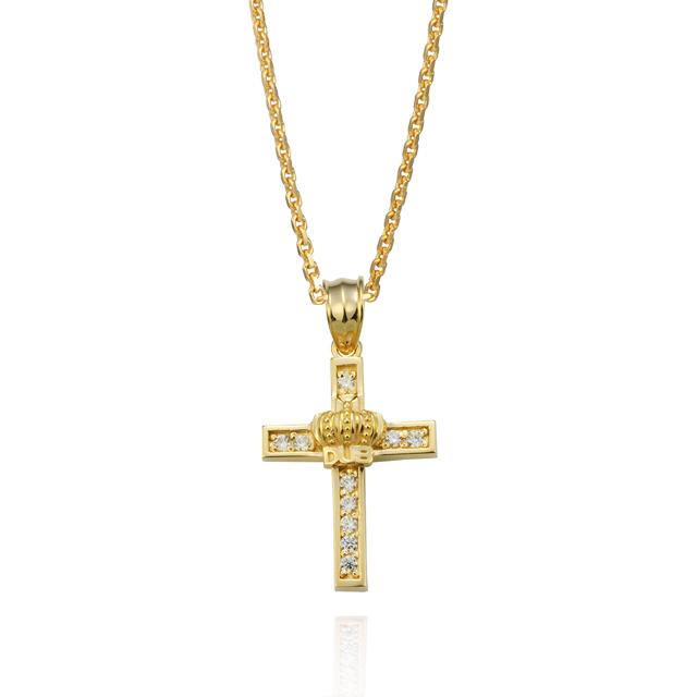 受注生産(オーダー)【DUB Collection】Shine crown Necklace Top DUBj-282-3(YG)】【ユニセックス】