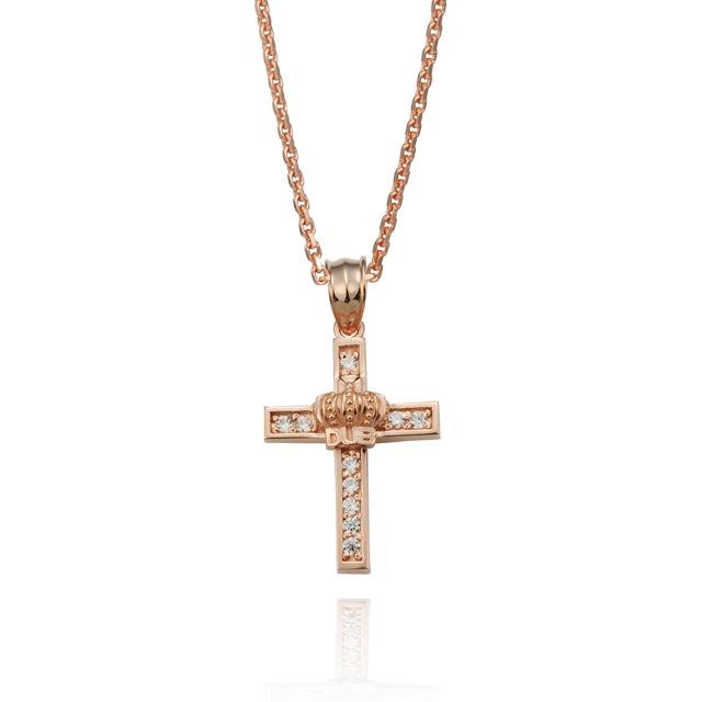 受注生産(オーダー)【DUB Collection】Shine crown Necklace【DUBj-282-4(PG)】【レディース】