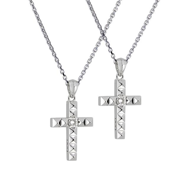 【DUB collection|ダブコレクション】Studs Cross Necklace スタッズクロスネックレス DUBj-372-1-Pair【ペア】