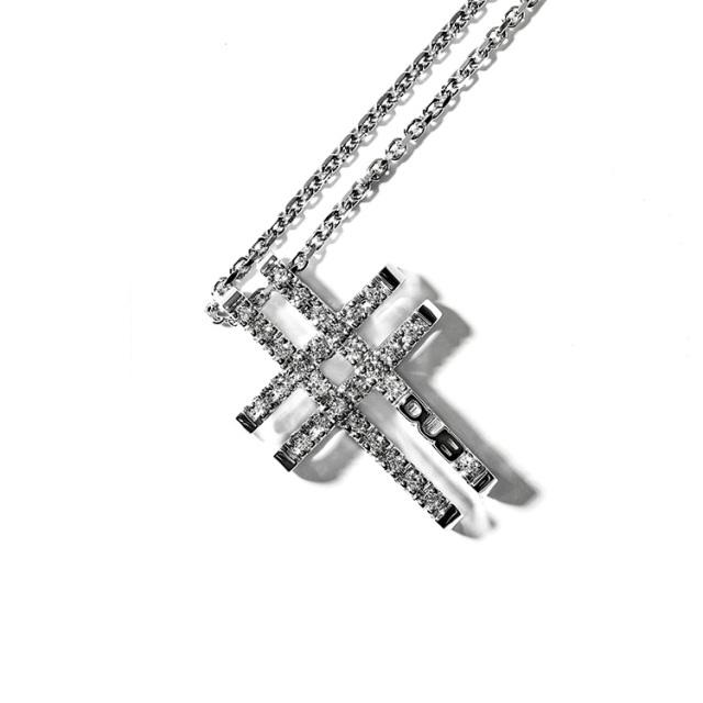 受注生産(オーダー)【DUB collection|ダブコレクション】Woven Cross Necklace Top ウォーヴンクロスネックレストップ DUBj-380-1【ユニセックス】