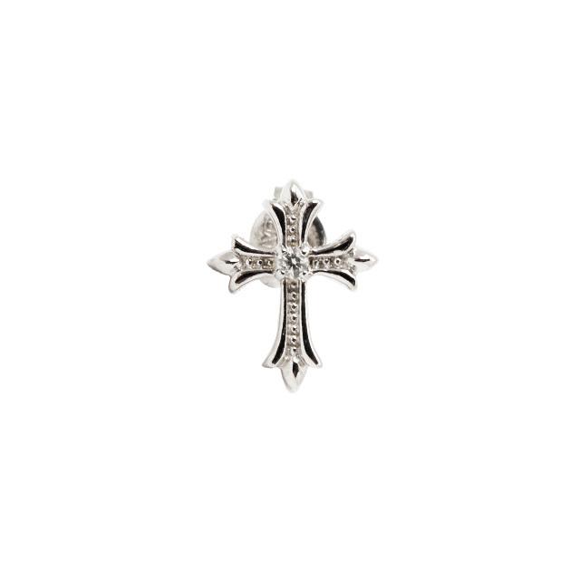 受注生産(オーダー)【DUB Collection│ダブコレクション】 Slender Cross Pierced スレンダークロスピアス DUBj-357-1