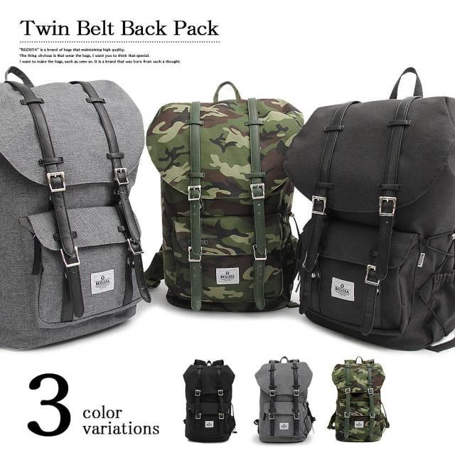 Twin Belt Back Pack ツインベルトバックパック 【ユニセックス】
