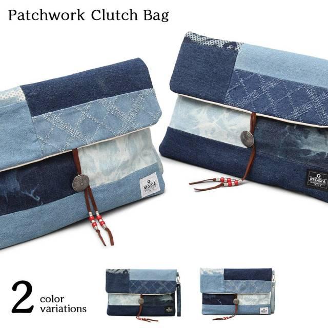 Patch Work Clutch Bag パッチワーククラッチバッグ 【ユニセックス】