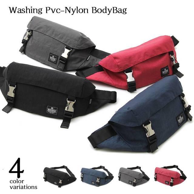 Washing PVC-Nylon Body Bag ウォッシングPVCナイロンボディバッグ 【ユニセックス】