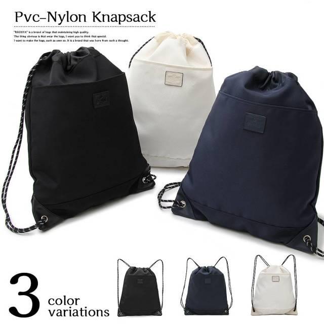 PVC-Nylon Knap Sack PVCナイロンナップザック 【ユニセックス】