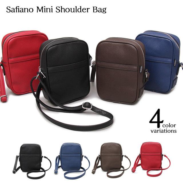 Saffiano Mini Shoulder Bag サフィアーノミニショルダーバッグ 【ユニセックス】