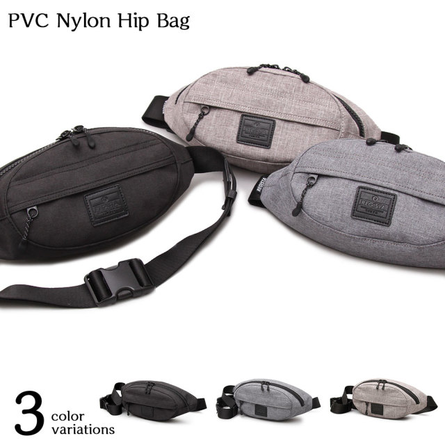 PVC Nylon Hip Bag PVCナイロンヒップバッグ 【ユニセックス】