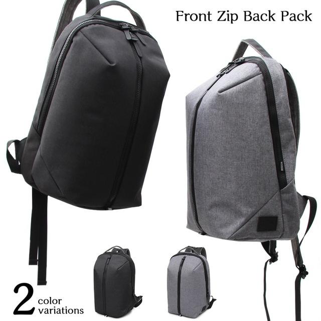 Front Zip Back Pack フロントジップバックパック 【ユニセックス】