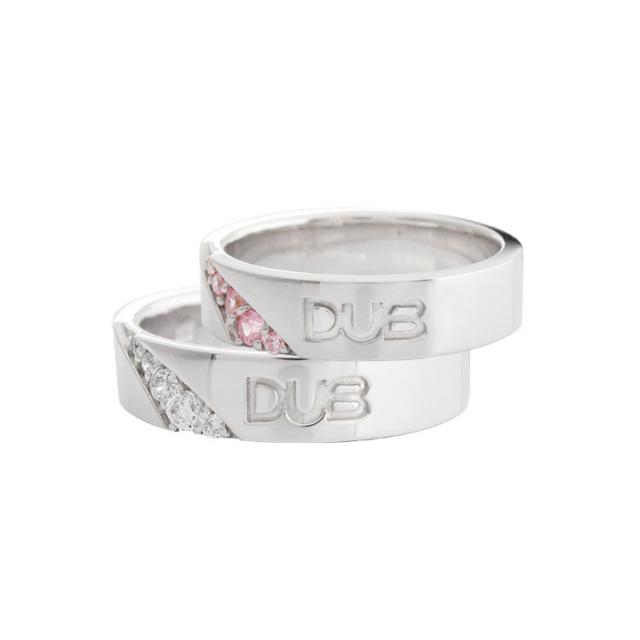 【DUB Collection ダブコレクション】Forge a bond Ring DUBj-217-1-2-pair(WH&PK)【ペア】