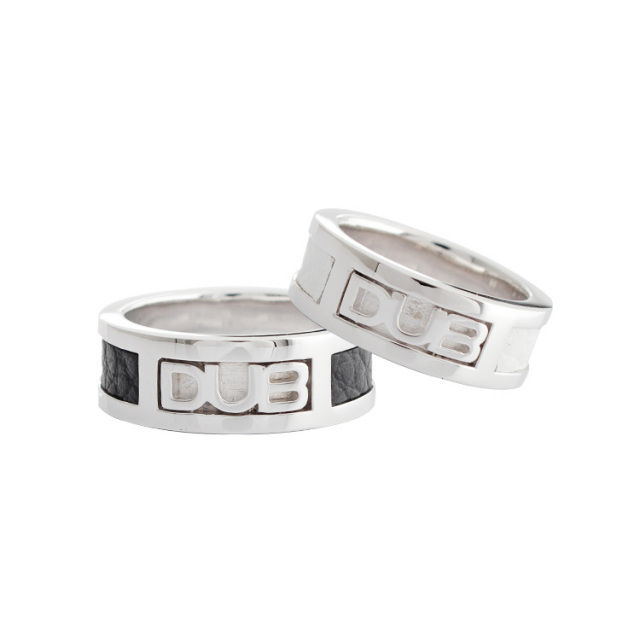【DUB Collection|ダブコレクション】DUB leather work Ring DUBj-213-1-2(BK&WH)【ペア】