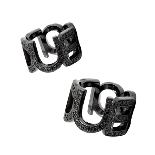 【DUB Collection ダブコレクション】Emblem ring DUBj-104-4-pair(BK)【ペア】