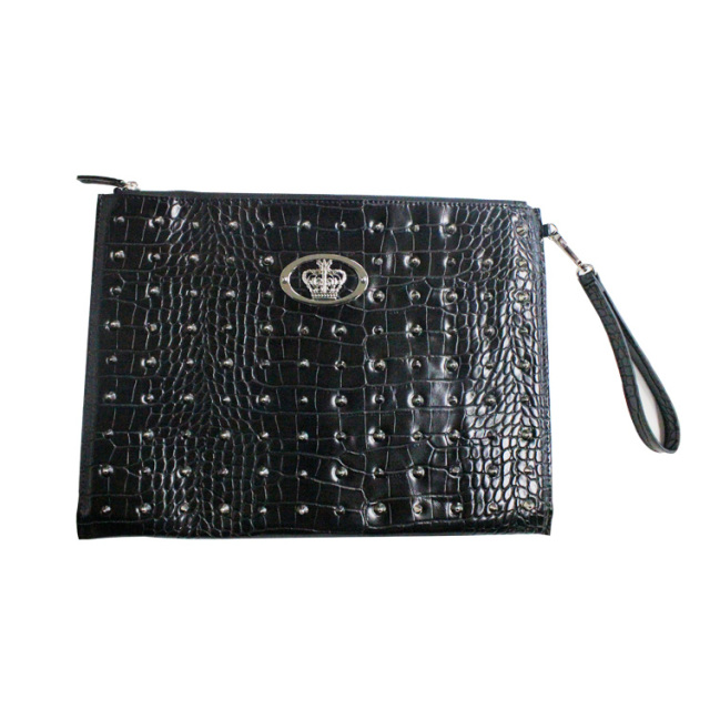 【DUB Collection】桜井莉菜model Studs Clutch Bag スタッズクラッチバッグ【C071-1】