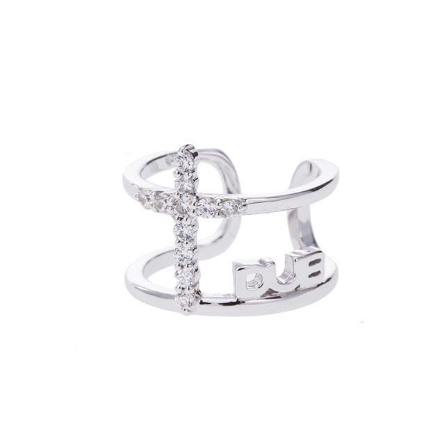 【DUB Collection│ダブコレクション】Cross line Phalange Ring クロスライン ファランジリング DUBj-345-1【レディース】桜井莉菜着用