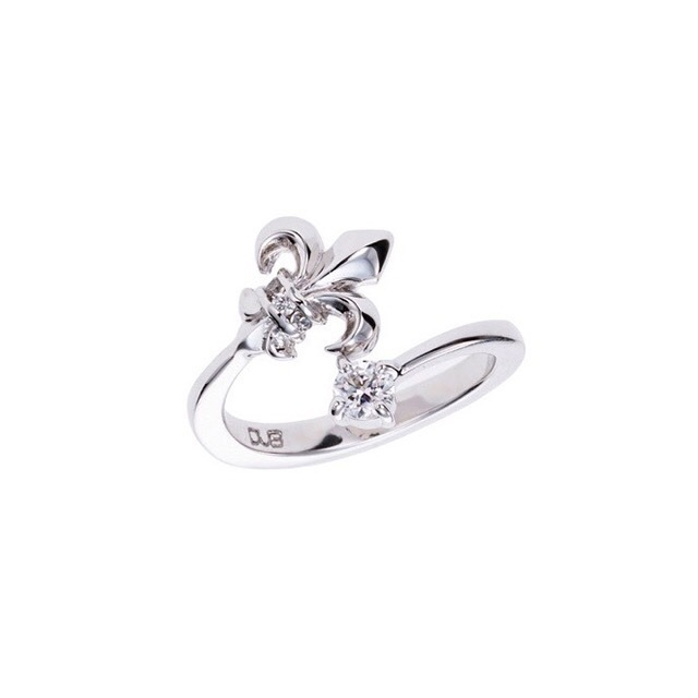 受注生産(オーダー)【DUB Collection│ダブコレクション】Classical Lilly Phalange Ring クラシカルリリィ ファランジリング DUBj-346-1【レディース】