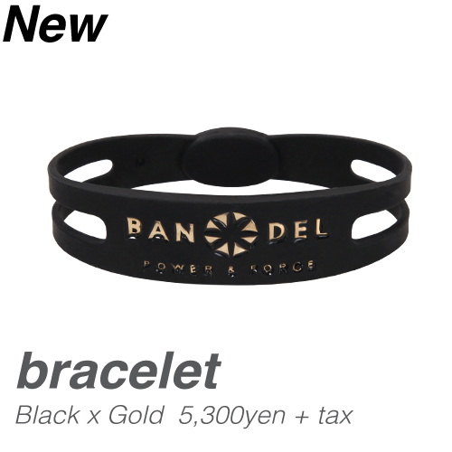【BANDEL|バンデル】 BANDEL bracelet (バンデルブレスレット)(ブラックゴールド)