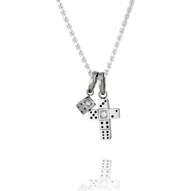 【7月中旬以降発送予定】【DUB Collection│ダブコレクション】 Da-iCE model Dice Cross Necklace ダイスクロスネックレス DUB-C031-1【Da-iCEコラボ】【ユニセックス】