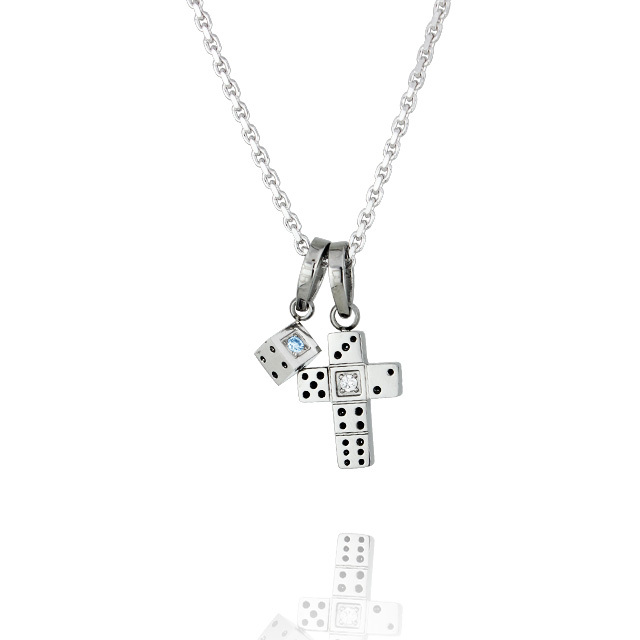 【7月中旬以降発送予定】【DUB Collection│ダブコレクション】 Da-iCE model Dice Cross Necklace ダイスクロスネックレス DUB-C031-2【Da-iCEコラボ】【ユニセックス】