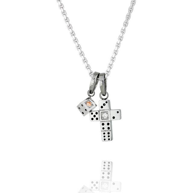 【7月中旬以降発送予定】【DUB Collection│ダブコレクション】 Da-iCE model Dice Cross Necklace ダイスクロスネックレス DUB-C031-3【Da-iCEコラボ】【ユニセックス】