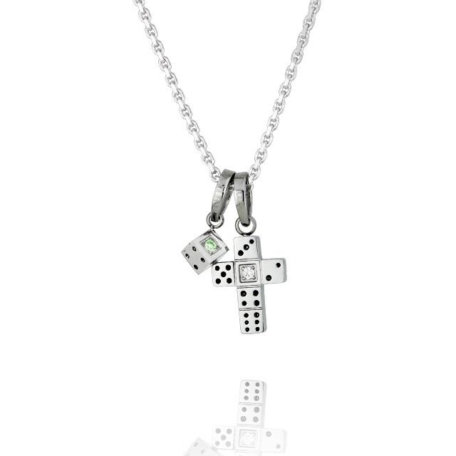【7月中旬以降発送予定】【DUB Collection│ダブコレクション】 Da-iCE model Dice Cross Necklace ダイスクロスネックレス DUB-C031-4【Da-iCEコラボ】【ユニセックス】