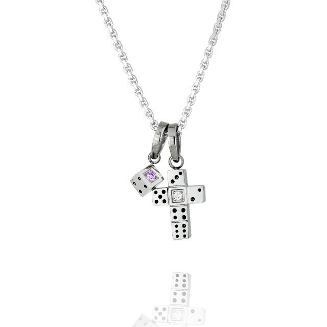 【7月中旬以降発送予定】【DUB Collection│ダブコレクション】 Da-iCE model Dice Cross Necklace ダイスクロスネックレス DUB-C031-5【Da-iCEコラボ】【ユニセックス】