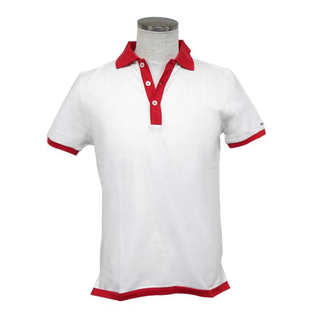 即日発送アイテム【DUB collection|ダブコレクション】DUBポロシャツ ホワイト×レッド DB081-2002【メンズ】