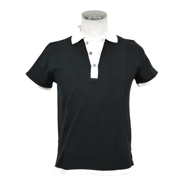 即日発送アイテム【DUB collection|ダブコレクション】DUBポロシャツ ブラック×ホワイト DB081-2002【メンズ】
