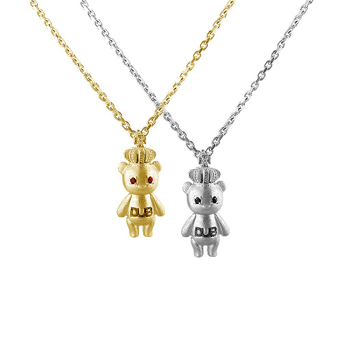 【DUB Collection│ダブコレクション】  Crown Bear Necklace DUB-C023