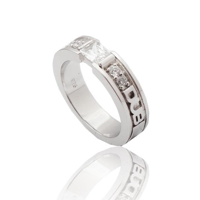 【DUB collection|ダブコレクション】Chic Bar ring(lady's) DUBj-155-1(WH)【レディース】