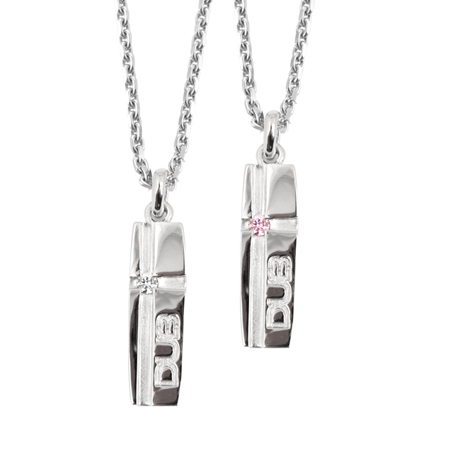 【DUB collection|ダブコレクション】mat line cross pair pendant マット ライン クロス ペア ペンダント DUBj-159-pair【ペア】