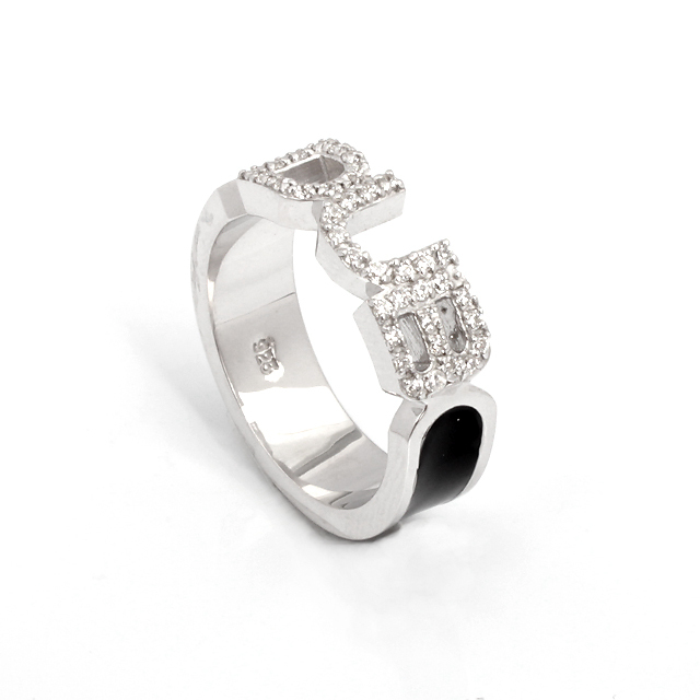 即日発送アイテム【DUB Collection|ダブ コレクション】Honest Ring オネスト リング DUBj-223-1(BK)【メンズ】