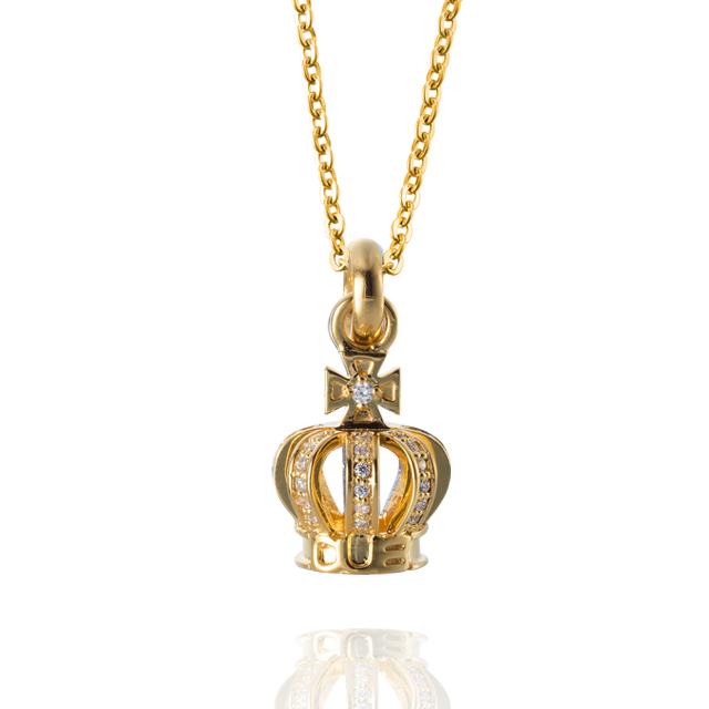 受注生産(オーダー)【DUB collection|ダブコレクション】Tiny Crown Necklace タイニークラウンネックレス DUBj-264-3【ユニセックス】