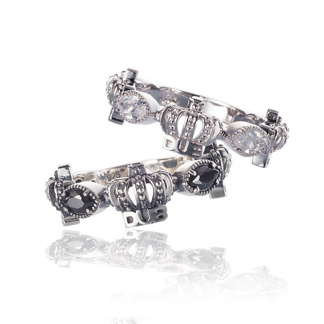 Men's JOKER掲載!!【DUB collection|ダブコレクション】Classical Crown Pair Ring クラシカルクラウンペアリング DUBj-267-Pair【ペア】